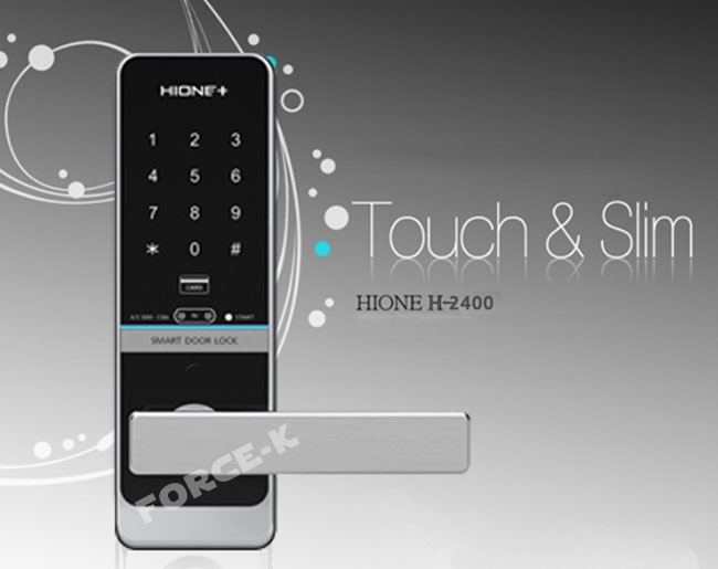 Hione Digital Doorlock Smart Keyless Lock H 2400 Security Entry