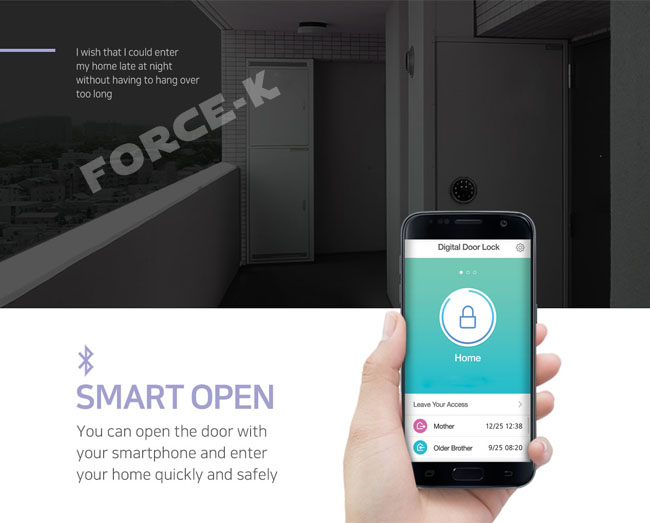 You Can Open The Door With Your Smartphone And Enter Your Home Quickly And  Safely.